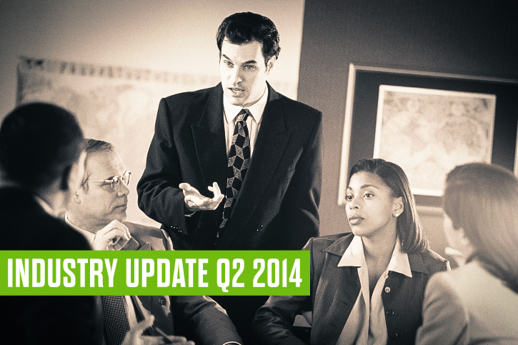 Industry Update Q2 2014: Construction, Hospitality, Finance, Logistics, Education, Healthcare, Oil & Gas, Mining…