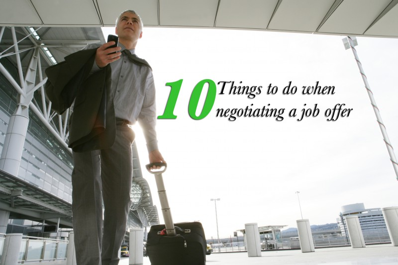 10 things to do when negotiating a job offer